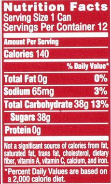 Sprite Label Nutrition Facts Trovoadasonhos